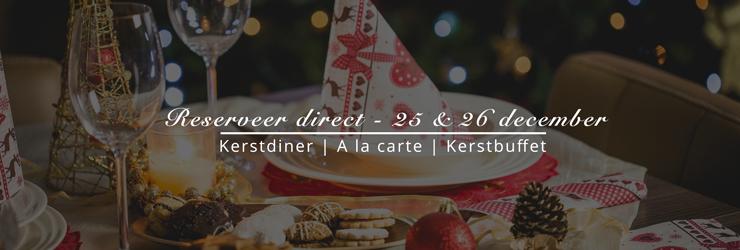 Reserveer direct het Kerstdiner bij Zuiderzoet